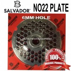 No22, 6mm Salvador Mincer Plate