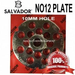 No12, 10mm Salvador Mincer Plate