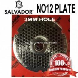 No12, 3mm Salvador Mincer Plate