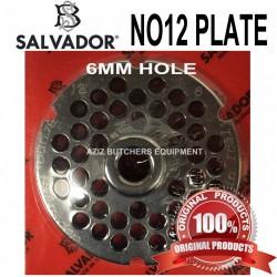 No12, 6mm Salvador Mincer Plate